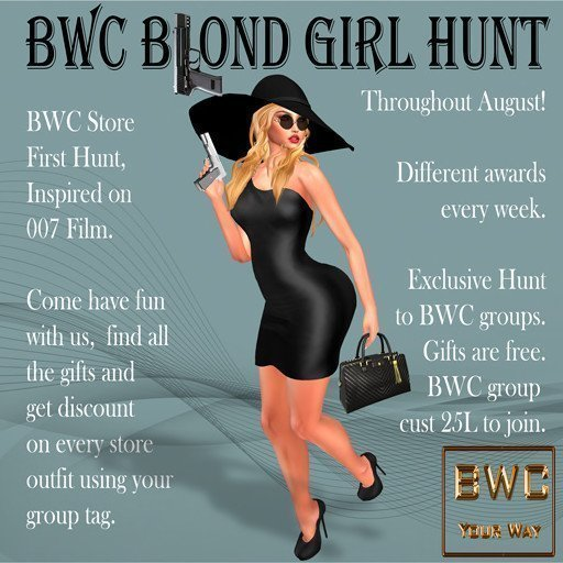 BWC B(l)ond Girl Hunt - August 2019