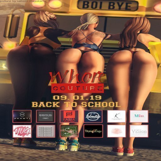 Whore Couture Fair - Back to School - September 2019