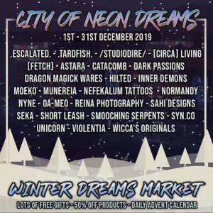City of Neon Dreams Winter Dreams Market December 2019