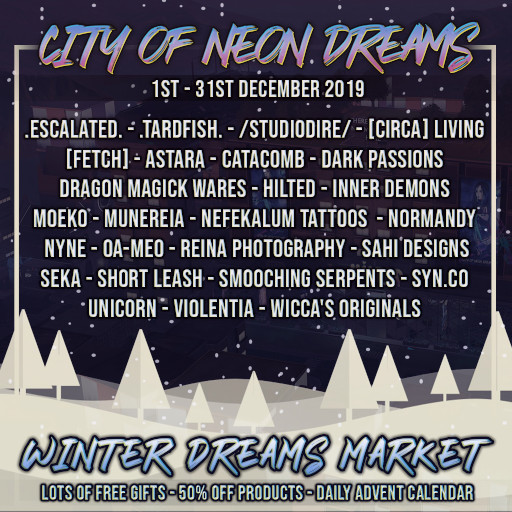 City of Neon Dreams - Winter Dreams Market - December 2019