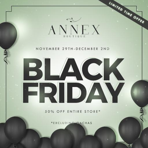 The ANNEX BLACK FRIDAY POSTER 2019
