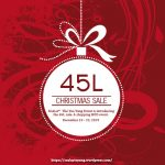 The Yin Yang Event 45L Sale December 2019