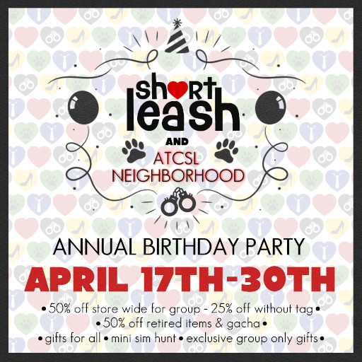 Short Leash Annual Birthday Party April 2020