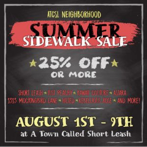 ATCSL Summer Sidewalk Sale August 2020