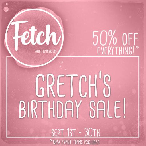 Fetch Birthday Sale September 2020