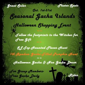 Halloween Town Seasonal Gacha Resell Islands October 2020