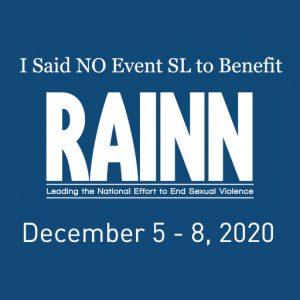 I Said No Event RAINN December 2020
