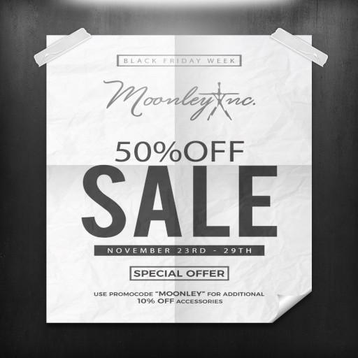 Moonley Black Friday Week Sale November 2020