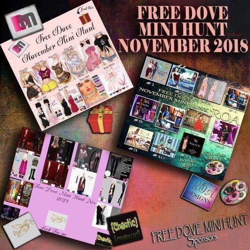Free Dove Mini Hunt November 2018