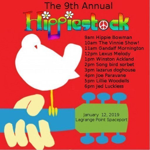 Hippiestock 9 January 2019