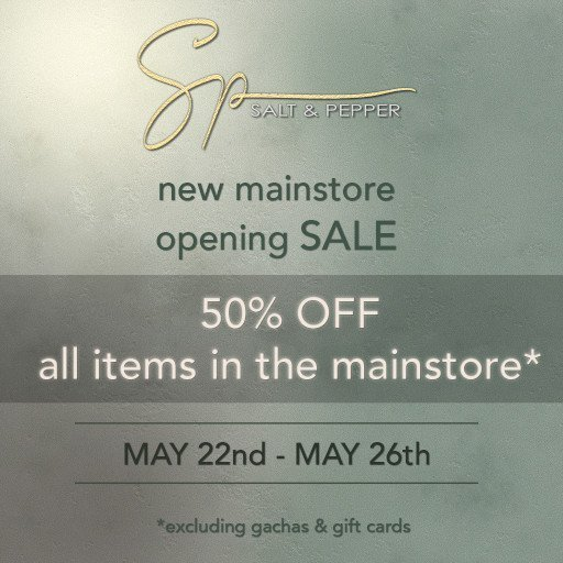Salt & Pepper Grand Reopening Sale – May 2019
