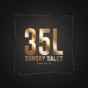 The 35L Sunday Sales Logo