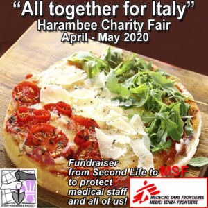 The All together for Italy April 2020 Sign