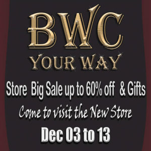The BWC New Shop December 2020 Sign
