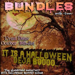 The Bundle of Dove Deja Boooo Event October 2020 Sign
