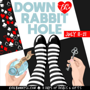 The EB Down The Rabbit Hole July 2020 Sign
