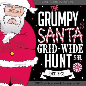 The Grumpy Santa Grid Wide Hunt December 2020 Sign