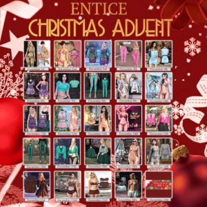 The Entice Advent Calendar December 2020 Sign
