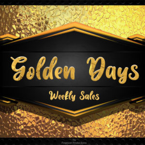 The Golden Days Weekly Sales Logo