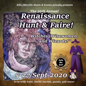 The HHL Mieville Renaissance Hunt and Faire September 2020 Sign