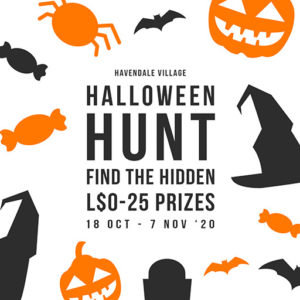 The Halloween Hunt by Havendale Village October 2020 Sign