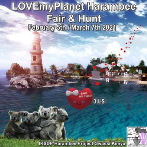 The Harambee LoveMyPlanet Hunt February 2021 Sign