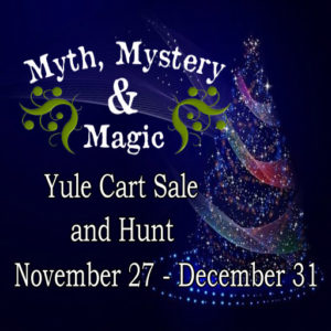 The Myth Mystery and Magic Yule Cart and Hunt 2020 Sign