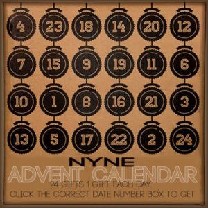 The Nyne Advent Calendar 2020 Sign