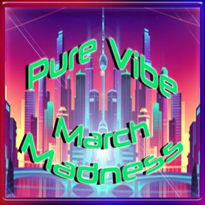 The PureVibe March Madness Event March 2021 Logo