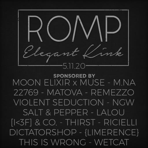 ROMP May 2020 Sponsors