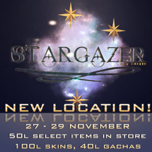 The STARGAZER New Location 2020 Sign