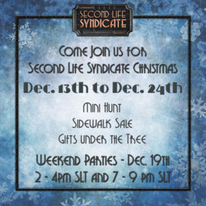 The Second Life Syndicate - HQ Christmas 2020 Sign