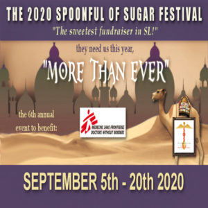 The Spoonful of Sugar Festival September 2020 Sign