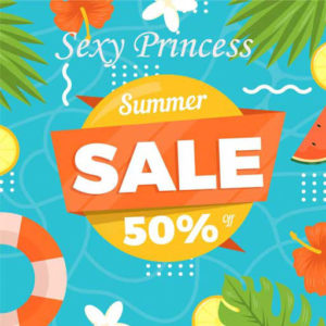 The Summer Sale Sexy Princess July 2020 Sign