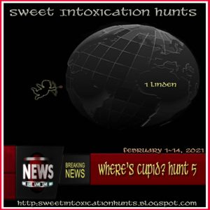 Sweet Intoxication Hunts Where's Cupid Hunt February 2021