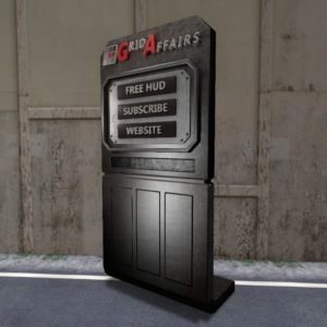 Picture of a different view of the standalone GridAffairs Kiosk