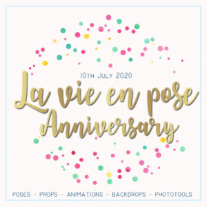 The la vie en pose anniversary 2020 Sign