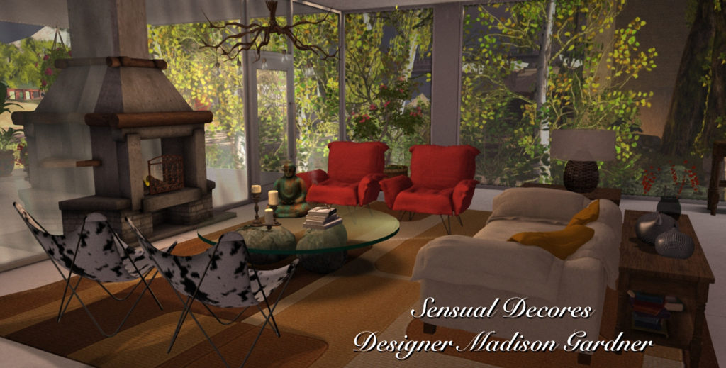 Livingroom with the 60s feeling by Madison Gardner of Sensual Decores