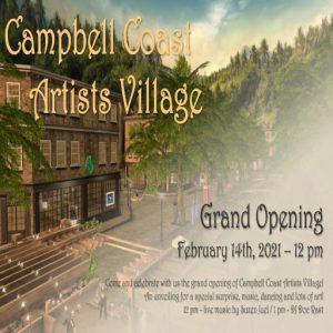 The Campbell Coast Art Village Grand Opening Logo