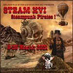 The STEAM XVI Steampunk Pirates March 2021 Logo