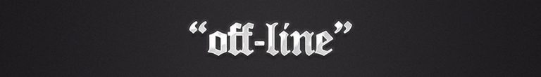 The off-line Banner