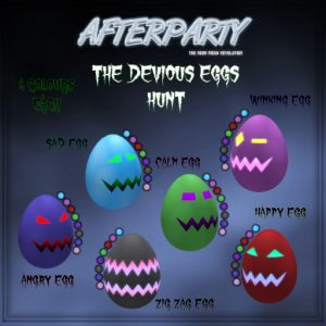 The Afterparty The Devious Eggs Hunt March 2021 Sign