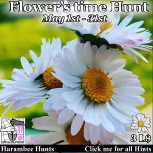The Harambee Flowers Time Hunt May 2021 Sign