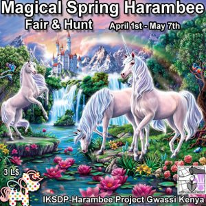The Harambee Magical Spring Charity Fair and Hunt April 2021 Sign