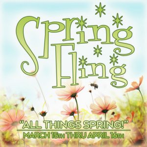 The Spring Fling March 2021 Sign