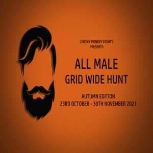 The All Male Gridwide Hunt Autumn October 2021 Sign