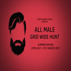 The All Male Gridwide Hunt Summer July 2021 Sign