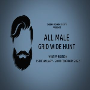 The All Male Gridwide Hunt Winter January 2022 Sign