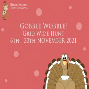 The Gobble Wobble Hunt November 2021 Sign