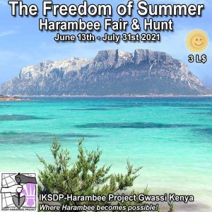 The Harambee Freedom of Summer Fair June 2021 Sign